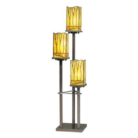 Sedona Collection 3-Tier Tiffany-Style Console Table Lamp
