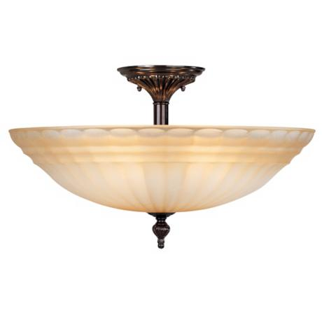 "Champagne Glass 19 3/4"" Wide Ceiling Light"