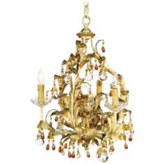 Almond Finish Crystal Chandelier