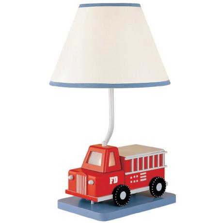 Five-Alarm Fire Truck Table Lamp with Night-Light