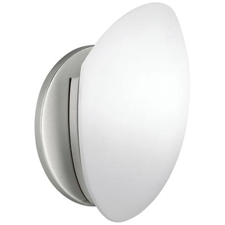 Marbleized Glass ADA Compliant Wall Sconce