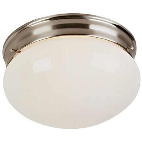 "Brushed Steel 10"" Wide Ceiling Light Fixture"