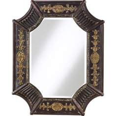 Antique French Brown Mirror