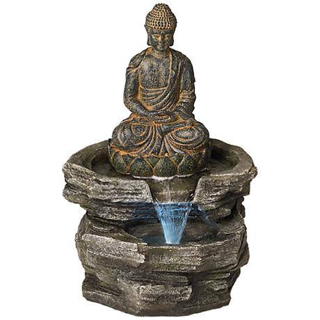 Sitting Buddha LED Water Fountain