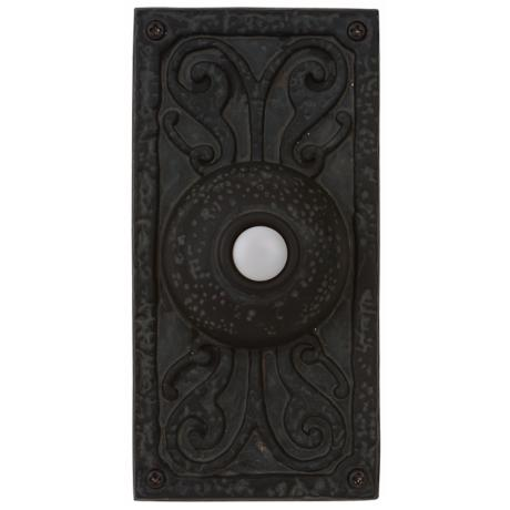 Weathered Rectangular Doorbell  Button