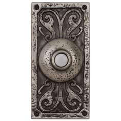 Antique Pewter Doorbell  Button