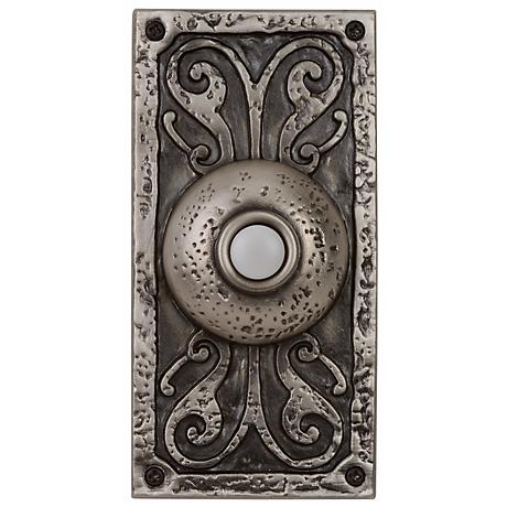 Antique Pewter LED Doorbell  Button