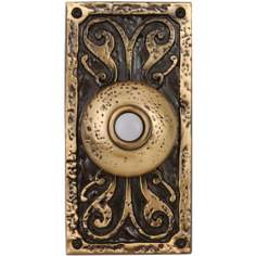 Burnished Brass Doorbell  Button