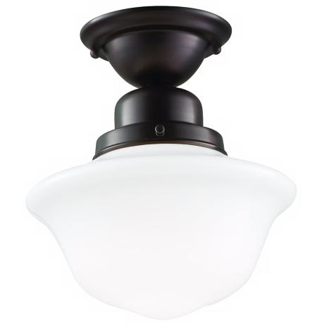 Hudson Valley Edison Old Bronze Semi-Flush Ceiling Light