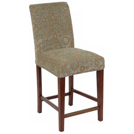 "Michelle Slipcovered Straight Leg 26"" High Counter Stool"