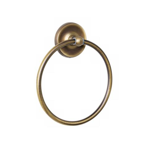 Towel Ring Plain Base Antique English