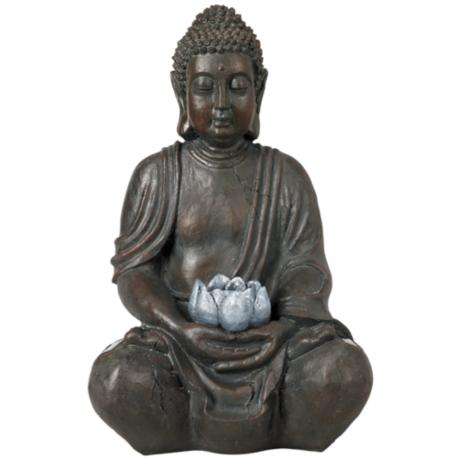 Sitting Buddha Sculpture Solar LED Sculpture