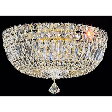 "Schonbek Petite Crystal Gold 8"" High Ceiling Light (QS)"