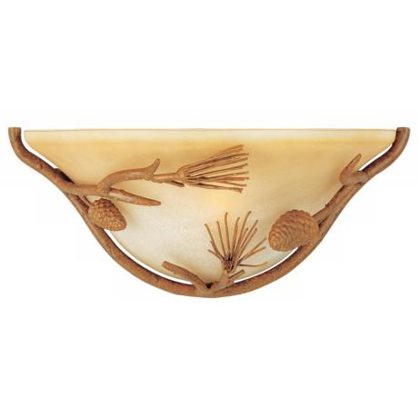 "Pine Grove Collection Pinetree 14"" Pocket  Wall Sconce"