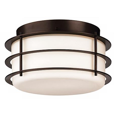 "Philips Hollywood Hills Bronze 10"" Wide Light"