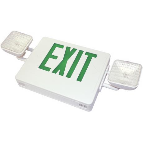 White and Green LED Emergency Light Exit Sign
