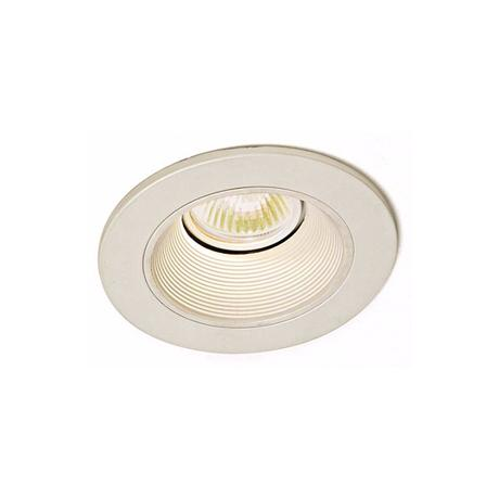 "Lightolier 3-1/2"" Adjustable White Baffle Recessed Trim"