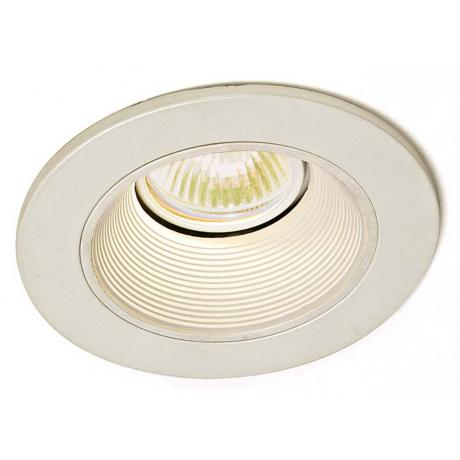 "Lightolier 4"" Low Voltage White Baffle Recessed Light Trim"