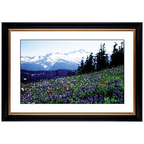"Flower Field Giclee 41 3/8"" Wide Wall Art"