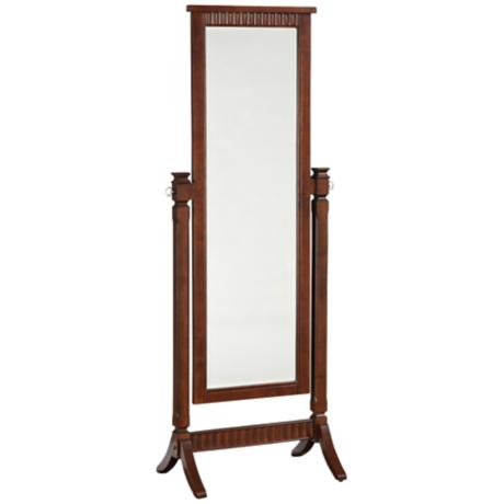 "Contemporary Merlot Cheval 66"" High Floor Mirror"