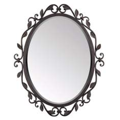 "Quoizel Derbyshire Collection Oval 30"" High Wall Mirror"
