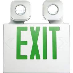 White and Green MR16 LED Emergency Light Exit Sign