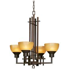 Metro Collection Quartet Four Light Chandelier