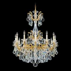 "Schonbek La Scala Collection 33"" Wide Crystal Chandelier"