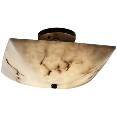 "LumenAria Collection Square 13 3/4"" Wide Ceiling Light"