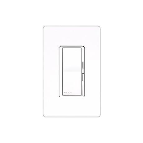 Lutron Diva Gloss White Electronic Single Pole Preset Dimmer
