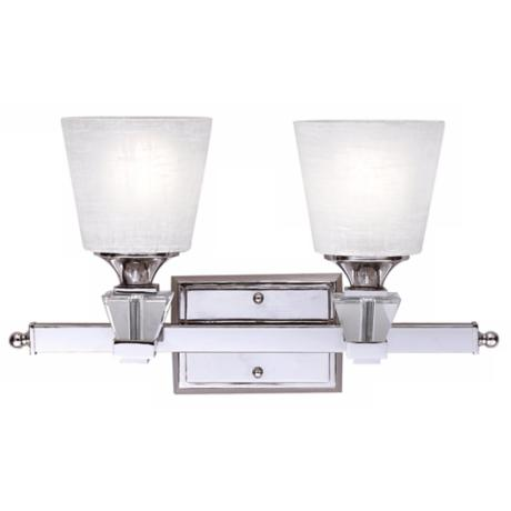 "Deluxe Collection 18"" Wide Two Light Bathroom Fixture"