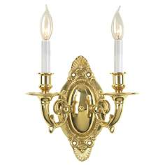 Williamsburg Brass Two Light Wall Sconce