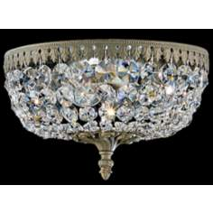 "Schonbek Rialto Parchment Bronze 10"" Wide Ceiling Light"