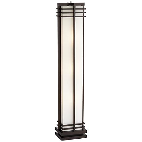 Possini Euro Design Deco Style Walnut Column Floor Lamp 48254