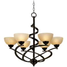 Franklin Iron Works™ Oil Rubbed Bronze Ribbon Chandelier
