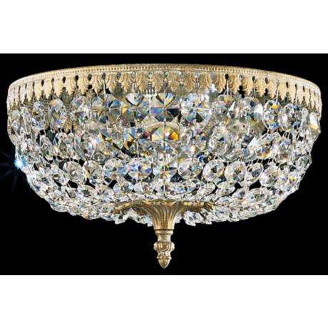 "Schonbek Rialto Collection 12"" Wide Crystal Ceiling Light"