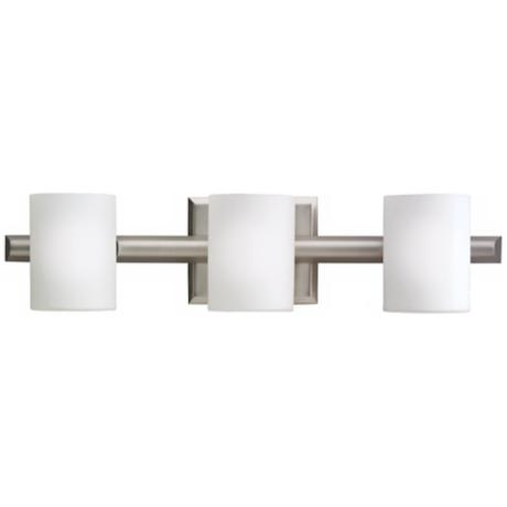 "Kichler Cylinder Brushed Nickel 21"" Wide Bathroom Light"