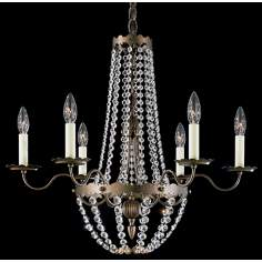 "Schonbek Early American 25"" Wide Crystal Chandelier (QS)"