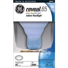 GE 65 Watt R30 Reveal Indoor Flood Light Reflector Bulb