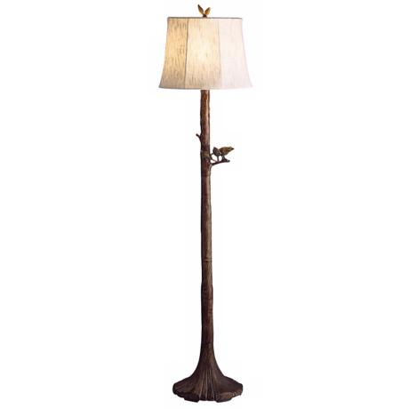 Kichler Indoor-Outdoor Bird on a Branch Floor Lamp