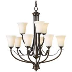 "Barrington Bronze 29"" Wide 9-Light Chandelier"