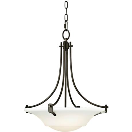 "Barrington Bronze 18"" Wide 3-Light Uplight Chandelier"