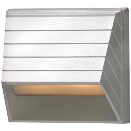 Hinkley White Square Low Voltage Deck Sconce