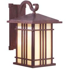 "Prairie House Collection 13 3/4"" High Outdoor Wall Light"