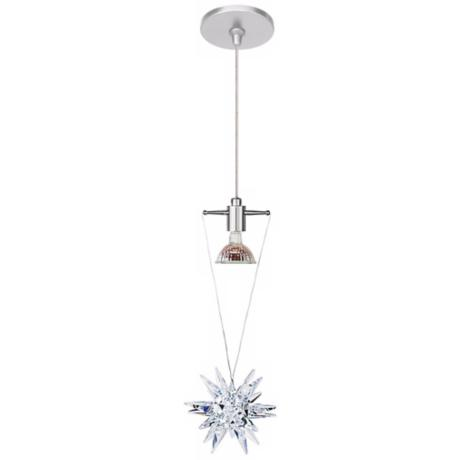 LBL Celeste Clear Crystal Star Nickel Pendant Light