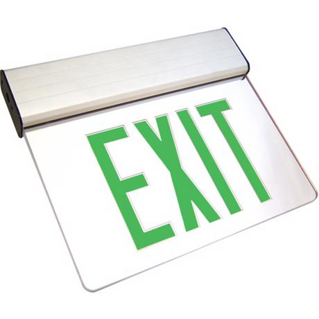 Clear Green LED Exit Sign