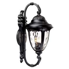 "Bellagio™ 27 1/2"" High Black Outdoor Wall Light"