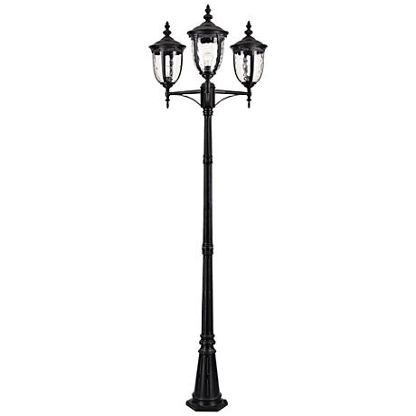 "Bellagio™ 96"" High Black Outdoor 3-Light Street Lantern"