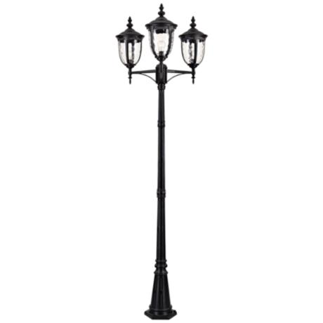 "Bellagio™ 96"" High Black Outdoor Street Lantern"