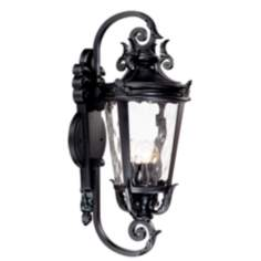 "Casa Marseille™ 31"" High Black Outdoor Wall Light"